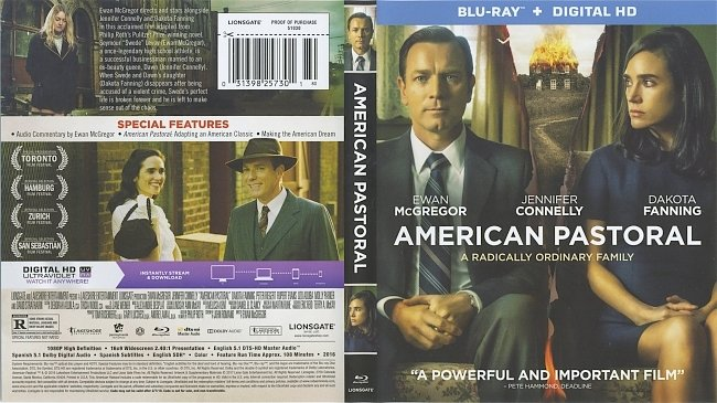 dvd cover American Pastoral 2016 Dvd Cover