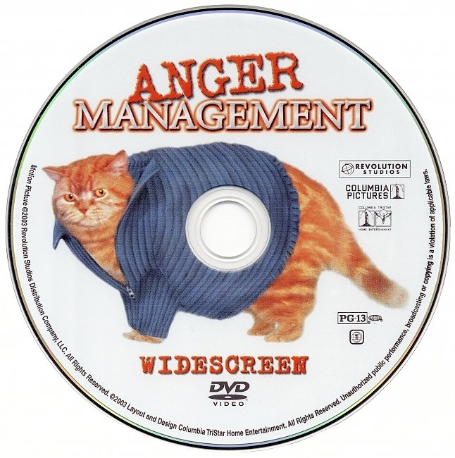 dvd cover Anger Management 2003 R1 Disc Dvd Cover