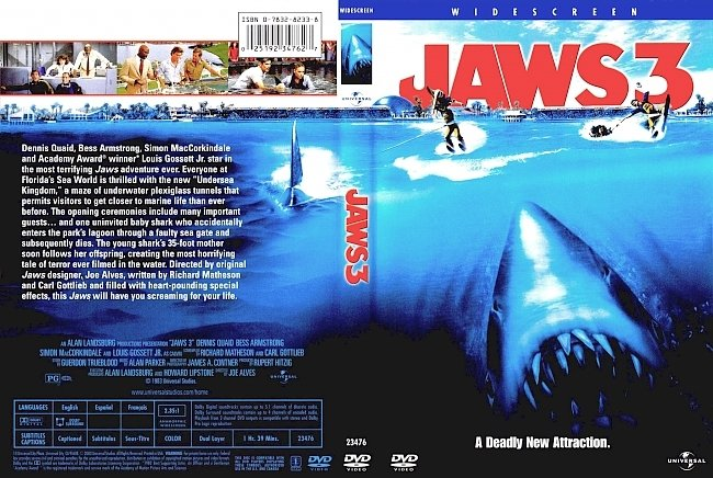 dvd cover Jaws 3 1983 Dvd Cover