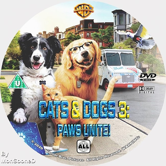 dvd cover Cats & Dogs 3 Paws Unite! 2020 Dvd Disc Dvd Cover