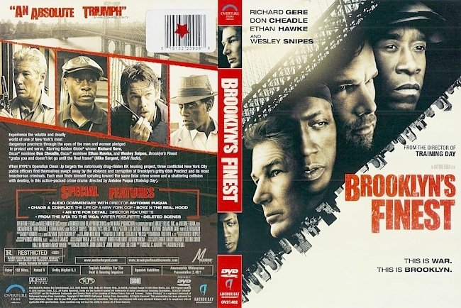 dvd cover Brooklyn's Finest 2009 R1 Dvd Cover
