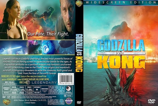 dvd cover Godzilla Vs. Kong 2021 Dvd Cover