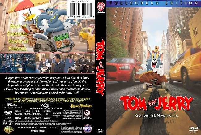 dvd cover Tom And Jerry 2021 Dvd Cover