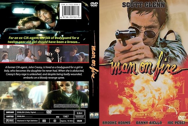 dvd cover Man On Fire 1987 Dvd Cover