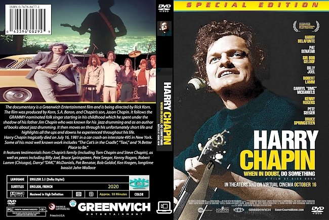 dvd cover Harry Chapin When In Doubt, Do Something 2020 Dvd Cover