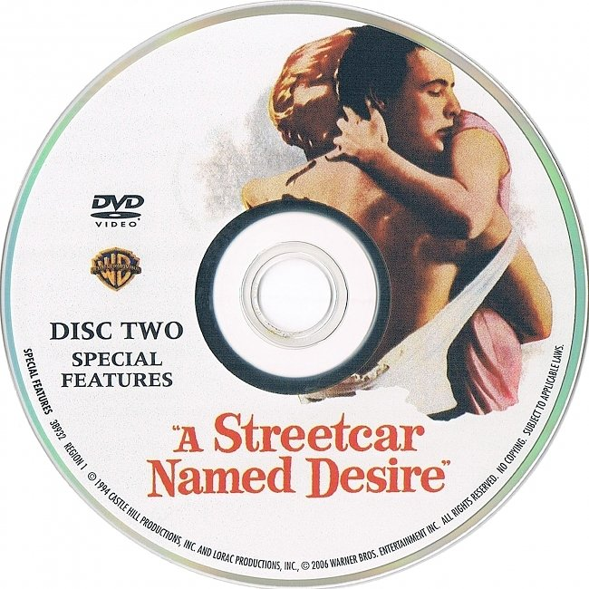 dvd cover A Streetcar Named Desire 1951 R1 Disc 2 Dvd Cover