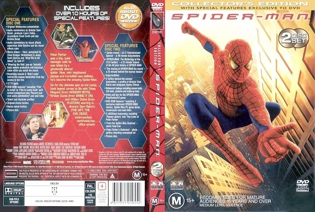 dvd cover Spider-Man - Collectors Edition 2002 Dvd Cover