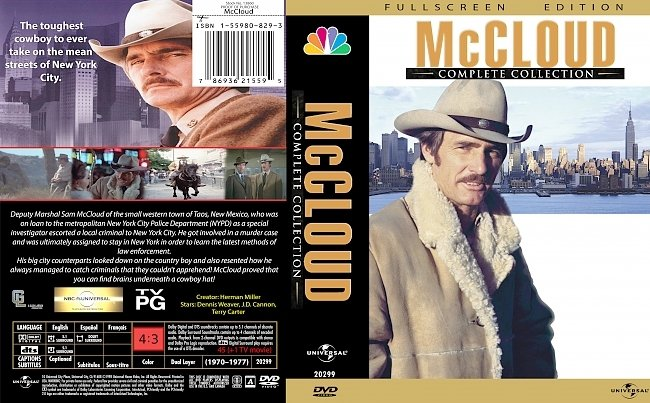 dvd cover McCloud Complete Collection 1970-1977 Dvd Cover