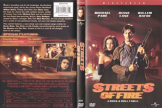 dvd cover Streets Of Fire 1984 R1 Dvd Cover