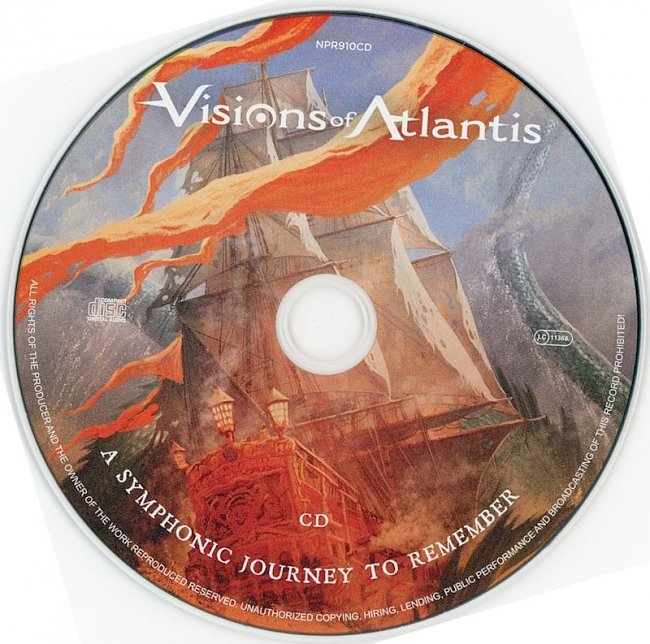 dvd cover Visions Of Atlantis - A Symphonic Journey To Remember 2020 Dvd Cover