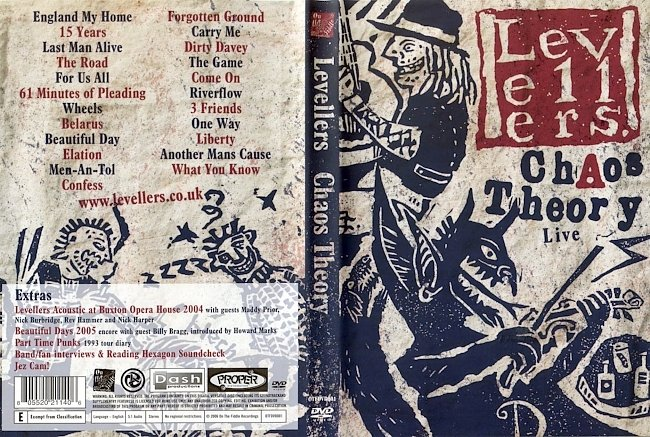dvd cover The Levellers - Chaos Theory Live 2006 Dvd Cover