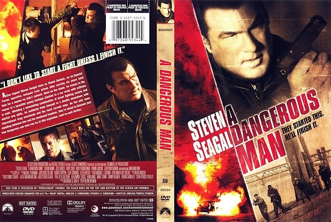 dvd cover A Dangerous Man 2009 Dvd Cover