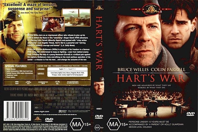 dvd cover Harts War 2002 Dvd Cover