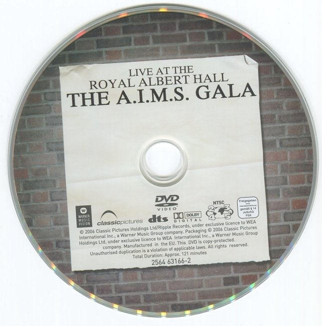 dvd cover One Night Only; The A.I.M.S.Gala - Live At The Royal Albert Hall 2008 Dvd Cover