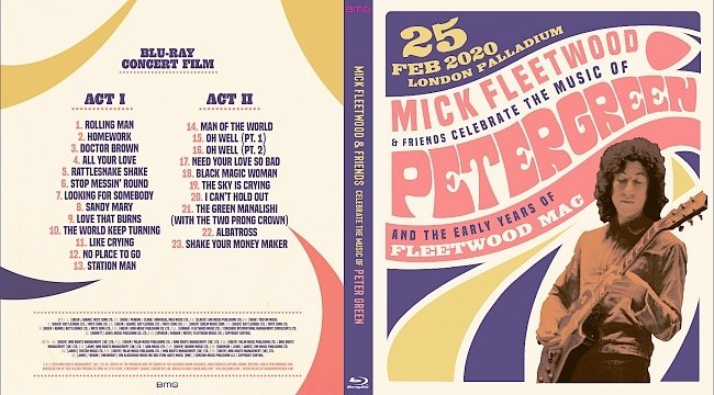 dvd cover Mick Fleetwood And Friends - Celebrate The Music Of Peter Green And The Early Years Of Fleetwood Mac 2021 Dvd Cover
