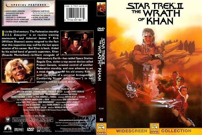 dvd cover Star Trek II The Wrath Of Khan 1982 Dvd Cover