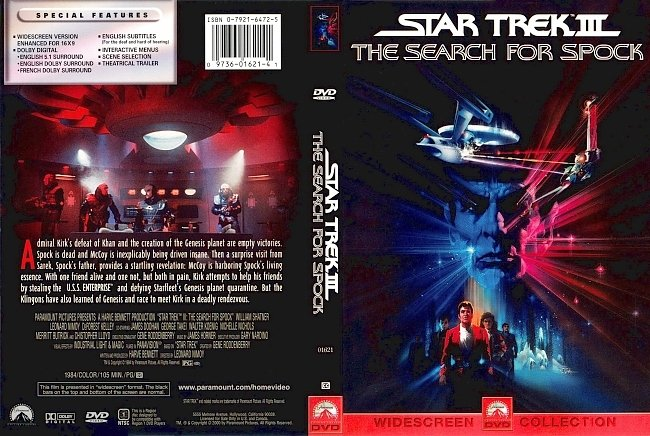 dvd cover Star Trek III The Search For Spock 1984 Dvd Cover