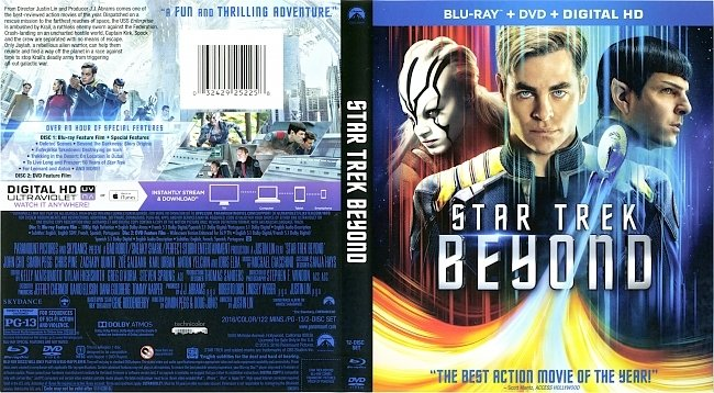 dvd cover Star Trek Beyond 2016 Dvd Cover
