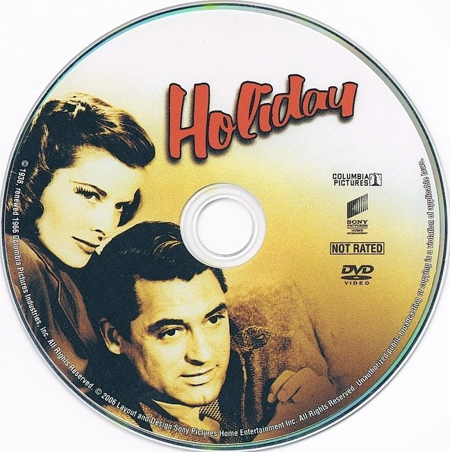 dvd cover Holiday 1938 R1 Disc Dvd Cover