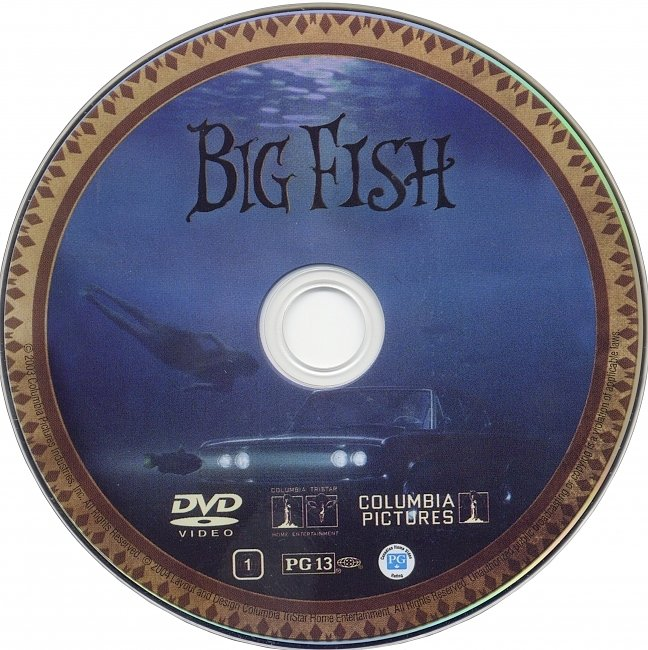 dvd cover Big Fish 2003 R1 Disc Dvd Cover