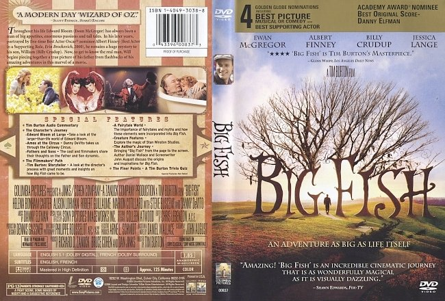 dvd cover Big Fish 2003 Dvd Cover