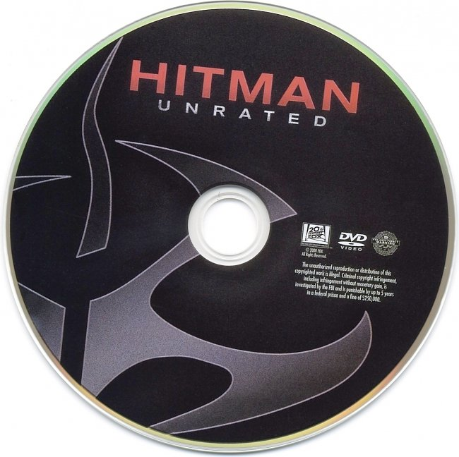 dvd cover Hitman - Unrated 2007 R1 Disc Dvd Cover