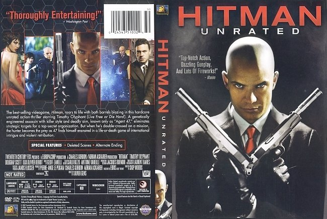 dvd cover Hitman - Unrated 2007 Dvd Cover