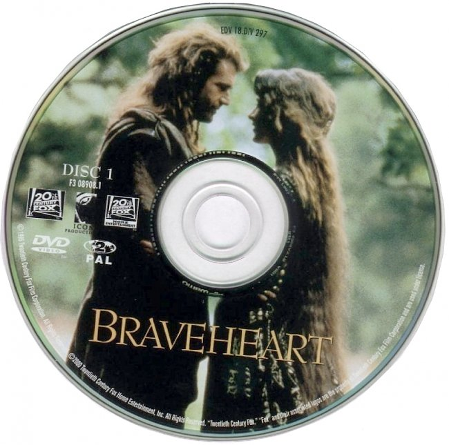 dvd cover Braveheart 1995 R2 Disc Dvd Cover