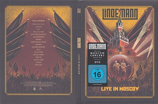 dvd cover Lindemann - Live In Moscow 2021 Dvd Cover