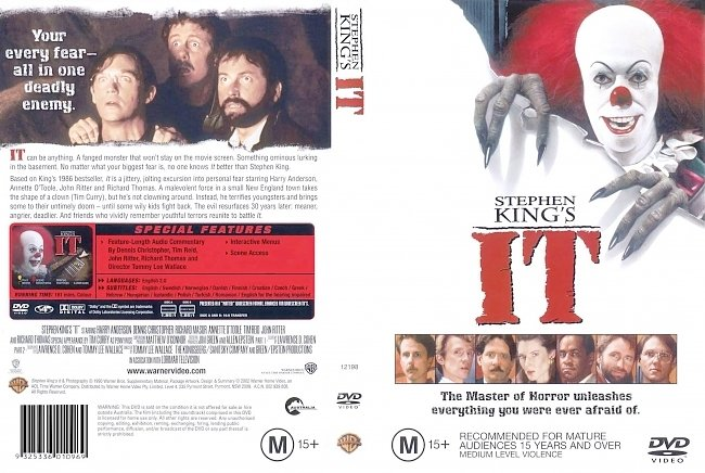 dvd cover IT 1990 Dvd Cover