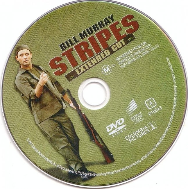 dvd cover Stripes - Extended Cut 1981 Disc Label Dvd Cover