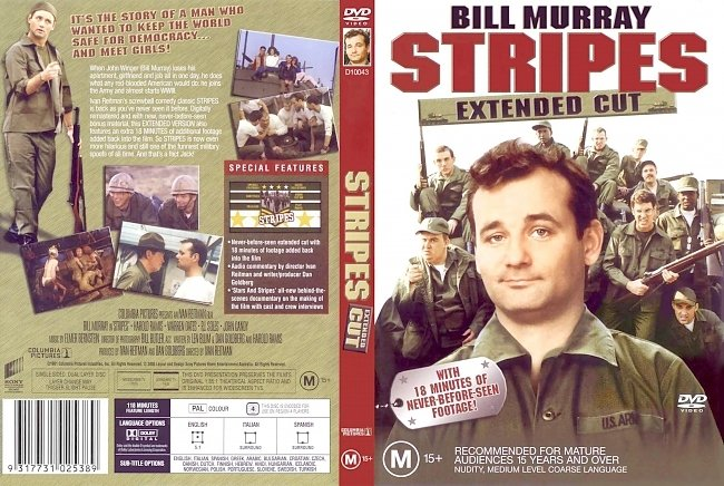 dvd cover Stripes - Extended Cut 1981 Dvd Cover