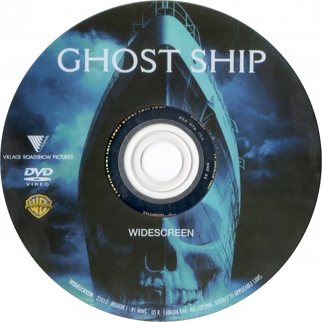 dvd cover Ghost Ship 2002 R1 Disc Dvd Cover