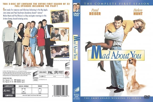 dvd cover Mad About You - Season 1 1992 Dvd Cover