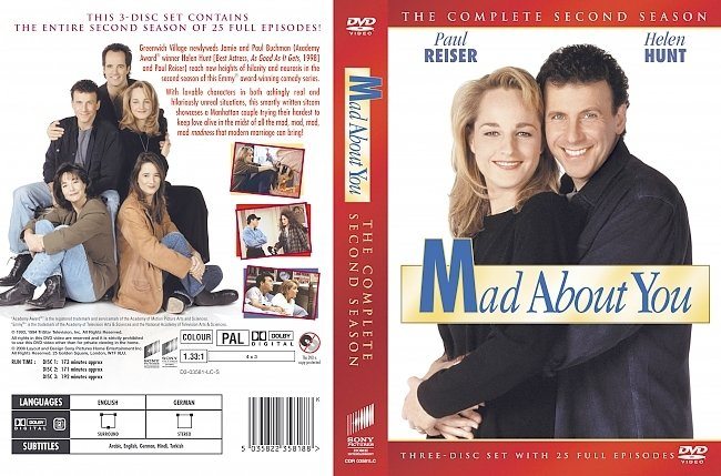dvd cover Mad About You - Season 2 1993 Dvd Cover