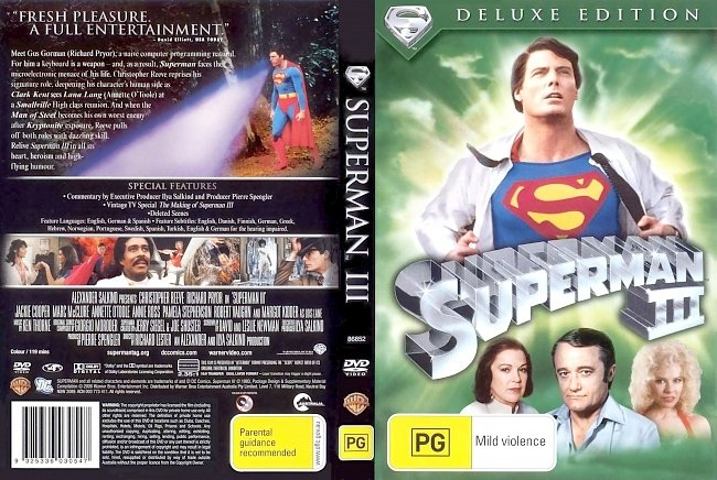 dvd cover Superman III - Deluxe Edition 1983 Dvd Cover