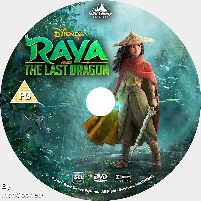 dvd cover Raya And The Last Dragon 2021 Dvd Disc Dvd Cover