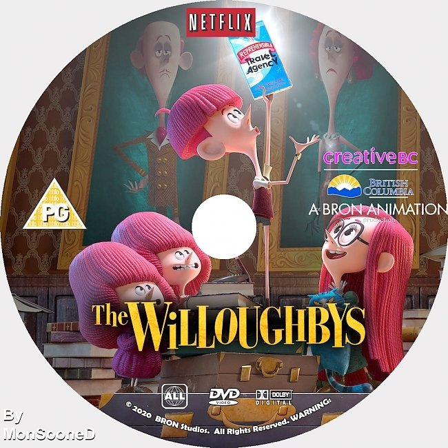 dvd cover The Willoughbys 2020 Dvd Disc Dvd Cover
