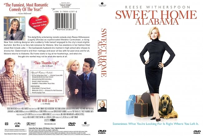 dvd cover Sweet Home Alabama 2002 Dvd Cover