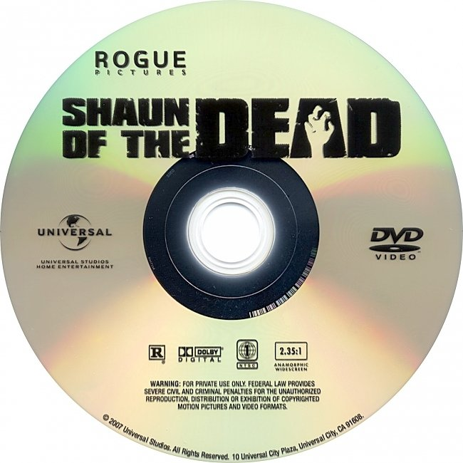 dvd cover Shaun Of The Dead 2004 R1 Disc Dvd Cover