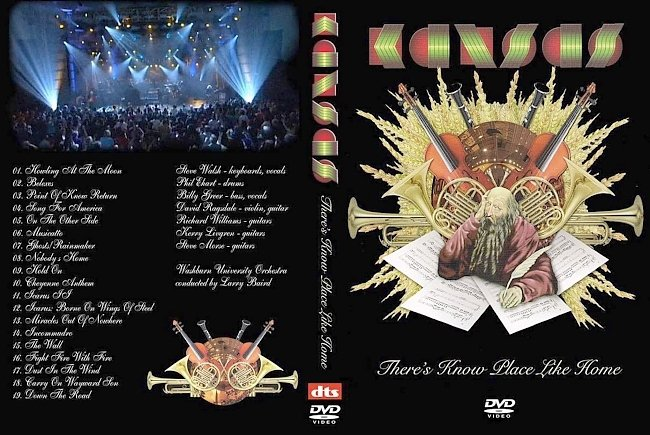 dvd cover Kansas - There`s Know Place Like Home 2009 Dvd Cover