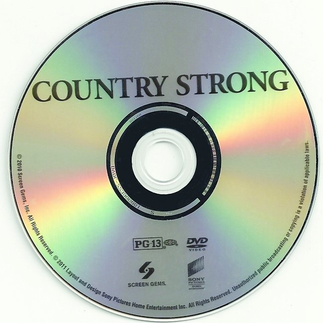dvd cover Country Strong 2010 R1 Disc Dvd Cover