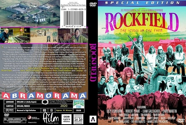 dvd cover Rockfield: The Studio On The Farm Dvd Cover