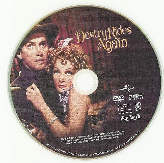 dvd cover Destry Rides Again 1939 R1 Disc Dvd Cover