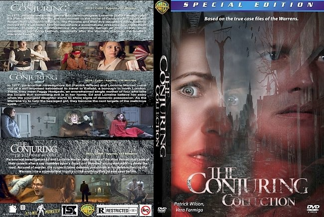 dvd cover The Conjuring Collection 2021 Dvd Cover