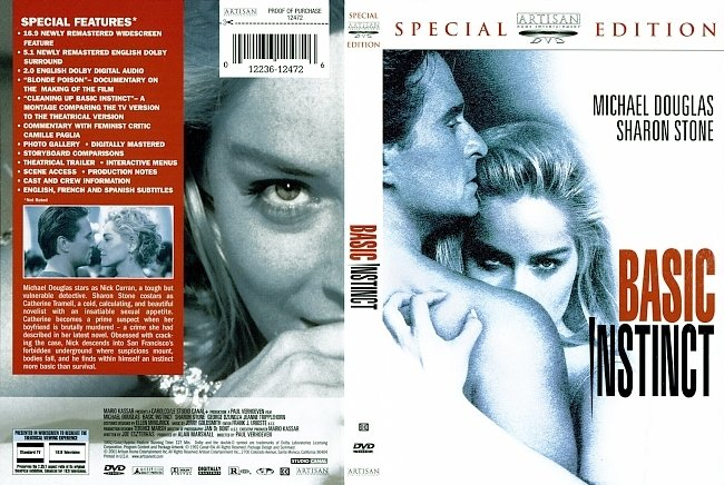 dvd cover Basic Instinct - Special Edition 1992 Dvd Cover