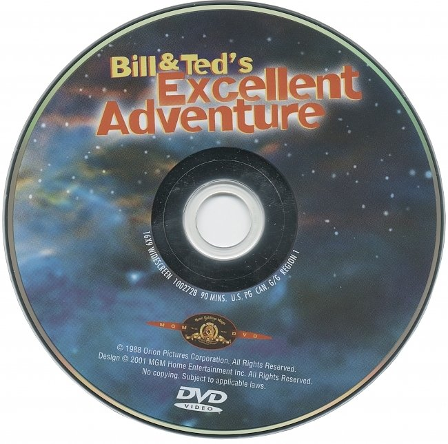 dvd cover Bill & Ted's Excellent Adventure 1988 R1 Disc Dvd Cover
