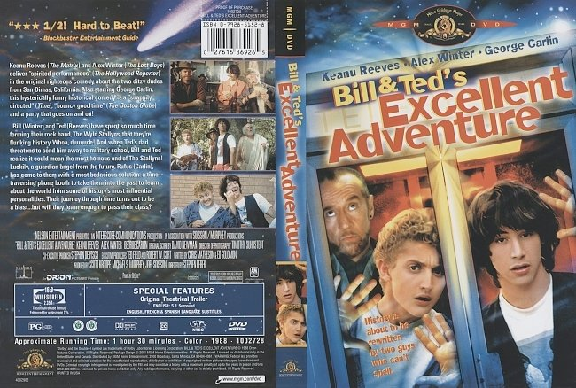 dvd cover Bill & Ted's Excellent Adventure 1988 Dvd Cover