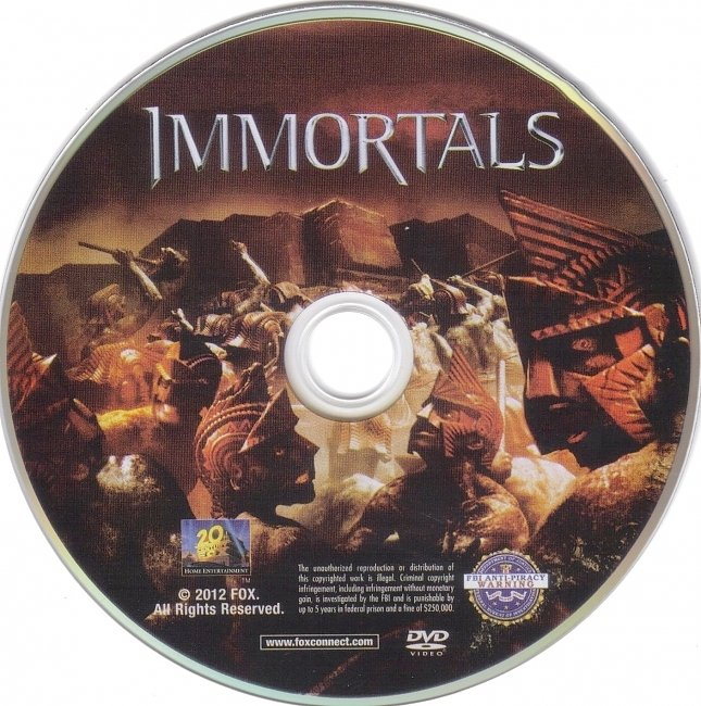 dvd cover Immortals 2011 R1 Disc Dvd Cover