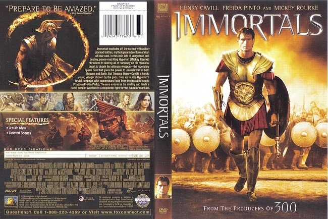 dvd cover Immortals 2011 Dvd Cover